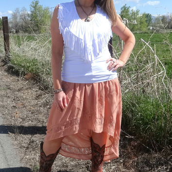 Spring Out For the Day Hi Low Skirt