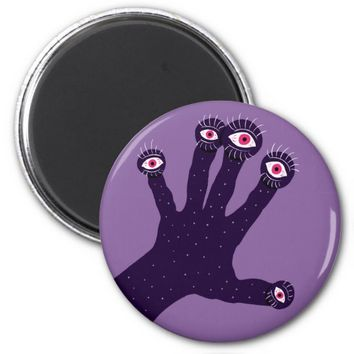 Creepy Hand Has Weird Fingers With Watching Eyes Magnet