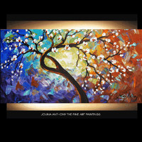 impasto abstract cherry blossom oil painting by Jolina Anthony