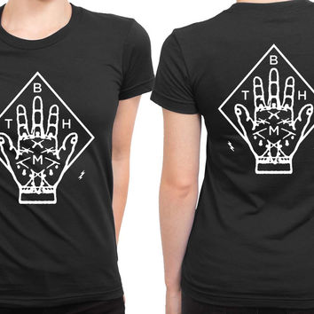 Bring Me The Horizon Bmth Hand 2 Sided Womens T Shirt