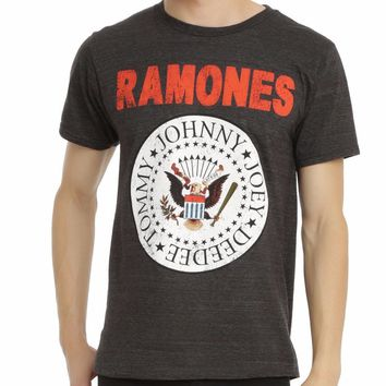 RAMONES EAGLE CREST PRESIDENTIAL SEAL LOGO T-Shirt 100% Authentic & Official