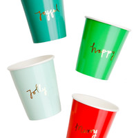 Holiday Joy Paper Cups