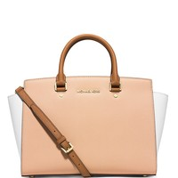 MICHAEL Michael Kors Satchel - Selma Large Colorblock