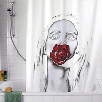 "Lana Del Rey Rose christmas gift, Custom Shower curtain, Sizes available size 36""w x 72""h 48""w x 72""h 60""w x 72""h 66""w x 72""h"