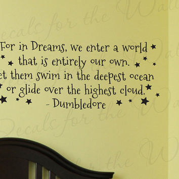 Dumbledore Harry Potter Girl or Boy Room Kid Baby Nursery Decorative Vinyl Lettering Large Wall Decal Quote Sticker Art Letters Decor B66