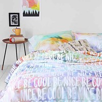 Plum & Bow Be Cool Be Nice Duvet Cover- Multi Full/queen