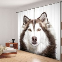 Rabbit Wolf And Gorilla Bedroom Living Room Kitchen Home Textile Luxury 3D Window Curtains Gift For Family