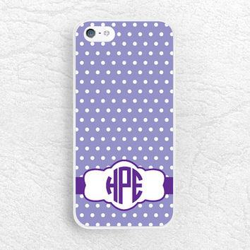 Polka Dots personalized Monogram phone case for iPhone 6, Moto x Moto g, LG g3 g2 Nexus 5, HTC one m7 m8, Sony z1 z3 custom name phone cover