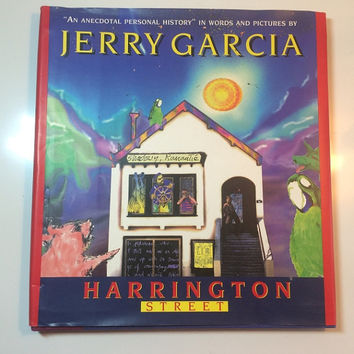 Harrington Street Jerry Garcia November 1995 Vintage Book 1st Edition Art Top Condition Deadhead Bookshelf Collectible Hardcover Copy Jacket