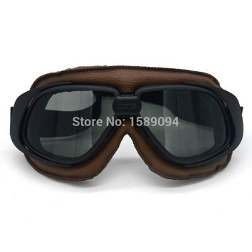Motorcross Sunglasses Vintage Motorcycle Helmet Goggles Scooter Glasses Aviator Pilot Cruiser Steampunk Multicolor