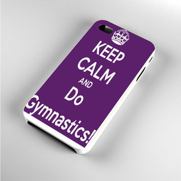 Keep calm and do Gymnastics Purple iPhone 4s Case