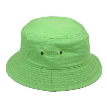 Men Women 100% Cotton Fishing BUCKET HAT CAP Boonie Brim visor Sun Safari GREEN