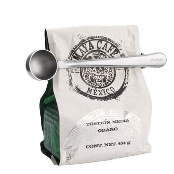 Multifunction Stainless Steel Coffee Scoop With Clip