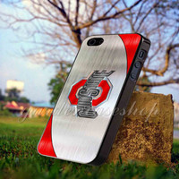 Ohio State Football logo - for iPhone 4/4s, iPhone 5/5S/5C, Samsung S3 i9300, Samsung S4 i9500 *GARDENCASESHOP*