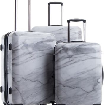 CALPAK Astyll 3-Piece Marbled Luggage Set | Nordstrom
