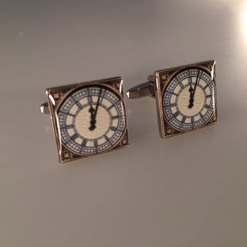 Big Ben Cuff Links, UK Parliment Cufflinks, Great Britain Cufflinks, Men's Cuff Links, Wedding Cuff Links, Father's Day, Graduation Gift