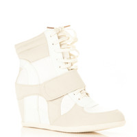 Faux Suede High Top Sneaker Wedges