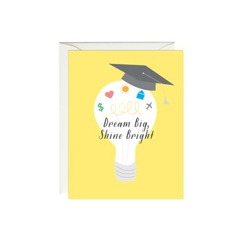 Graduation Dream Big Shine Bright Card