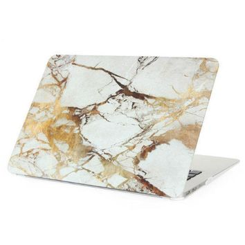 Gold Marble Case Best Protection Tech Rubberized Hard Shell Matte Nanometer Cover for MacBook Air 11.6 , Air 13.3 , Pro 13.3 , P