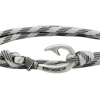 Grayscale Fish Hook Bracelet