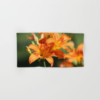 Day Lily Dance Hand & Bath Towel by Theresa Campbell D'August Art