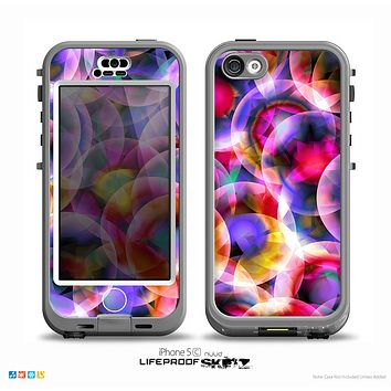 The Neon Glowing Vibrant Cells Skin for the iPhone 5c nüüd LifeProof Case