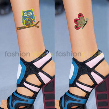 Skin with Owl and Butterfly Stockings