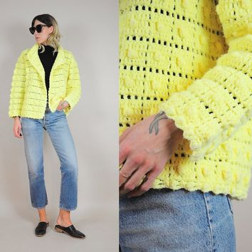 70's Popcorn Knit Sweater