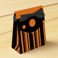 Orange and Black Favor Boxes