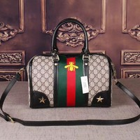 One-nice™ GUCCI : Women Shopping Leather Tote Handbag Shoulder Bag