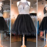 Juniors Homecoming Dresses, Black Homecoming Dress, Tulle Homecoming Dress, Cute Homecoming Dresses