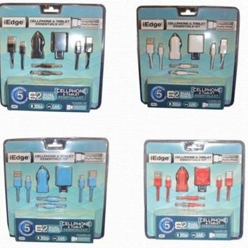 5 in 1 micro ip6 home and dc charger Case of 12