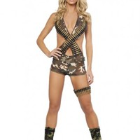 4 PC Military Babe Costume @ Amiclubwear costume Online Store,sexy costume,women's costume,christmas costumes,adult christmas costumes,santa claus costumes,fancy dress costumes,halloween costumes,halloween costume ideas,pirate costume,dance costume,costu