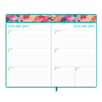 """Nicole Miller Weekly/Monthly Bookbound Planner, 5"""" x 8"""", Ephemeral, January to December 2017 Item # 905943"""