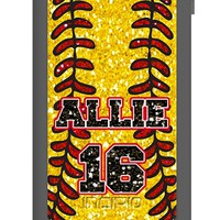 Personalize your Incipio Waterproof Case for iPhone 5 - Glitter Softball