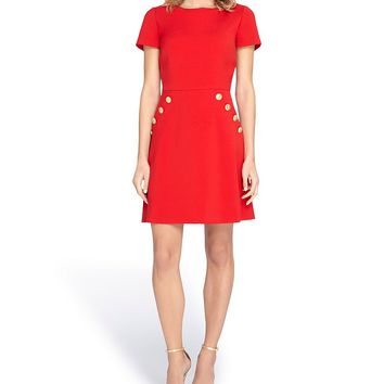 Tahari ASL Crepe Fit and Flare Dress | Dillards