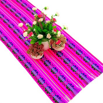 Mexican table runner, Wedding table runner 14X72 Inches, Cinco de Mayo, Fiesta Decoration, 14X72TRC733