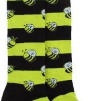 Sock It To Me Bumble Bees Black and Yellow Striped Knee High Socks - One Size