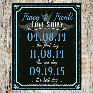 0194a760069 Wedding Sign   Wedding Decoration   Bride and Groom Love Story Sign    Chalkboard Wedding Sign