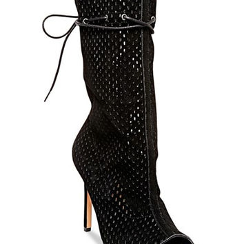 Steve Madden Women's Forsaken Caged Peep-Toe Booties