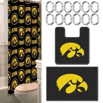 Iowa Hawkeyes NCAA 15-Piece Bath Set