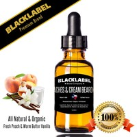 Peaches & Cream Best Beard Oil | Premium All Natural Organic Beard Oil