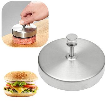 Stainless Steel Hamburger Press Patties Pizza Maker Household Kitchen Meat Making Cooking Tools Patty Burger Meat Mold