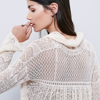 Free People Rain Fall Cowl Neck Pullover