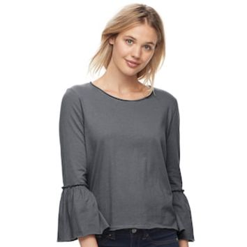 Juniors' SO® Bell Sleeve Top | null