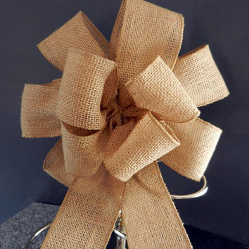 Burlap  bows set of 10, Wedding, country, rustic