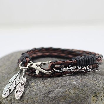 Charm Bracelets Feather Men Jewelry