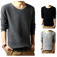 Mens Loose Neck Comfortable Sweater