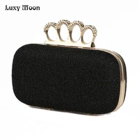 2016 HIGH Quality Diamond clasp evening bags fashion Clutch Bag purse glitter gold clutches bag silver handbags SH28