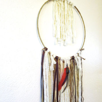 Bohemian Dream Catcher / Macrame Wall Art / Gypsy Dreamcatcher / Fiber Wall Art